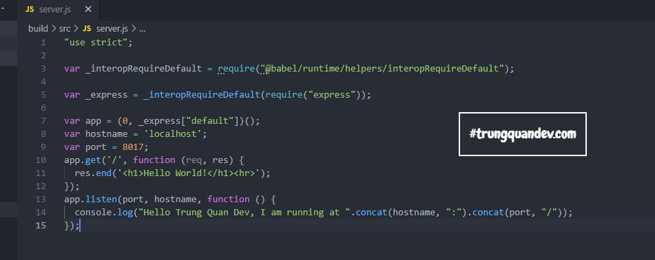 Cấu hình Babel cho một dự án Node.JS thuần Javascript